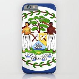 Belize flag emblem iPhone Case