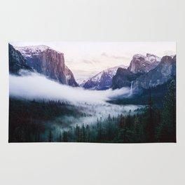 Misty Tunnel View - Yosemite National Park, CA Rug