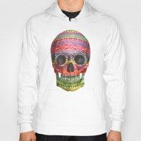 navajo Hoodies featuring Navajo Skull  by Terry Fan