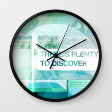 Theres Plenty To Discover Wall Clock