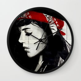 RED BANDANA Wall Clock