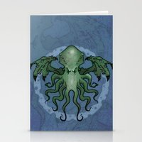 cthulhu Stationery Cards featuring Cthulhu by N.Kachaktano