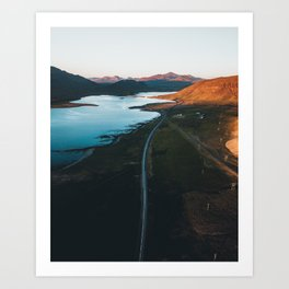 Iceland Sunset Art Print