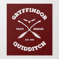 quidditch Canvas Prints featuring Gryffindor Quidditch by Sharayah Mitchell