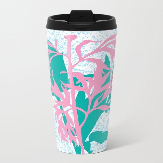 Leaves with branch Metal Travel Mug