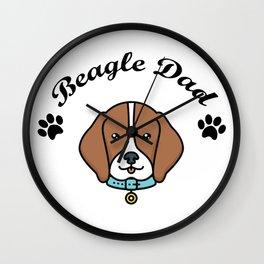 Beagle Dad Funny Love Dog Pet Gift Wall Clock