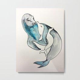 Comforting Sea Lion Metal Print