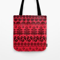 blanket Tote Bags featuring Gran's blanket by Farnell