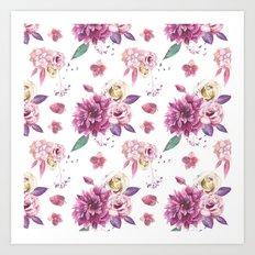 Succulent Rose Art Print