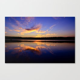 sunset on smokey Canvas Print