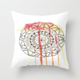 Fire Water  Throw Pillow