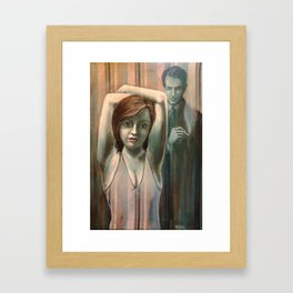 The Striped Room Caper Framed Art Print