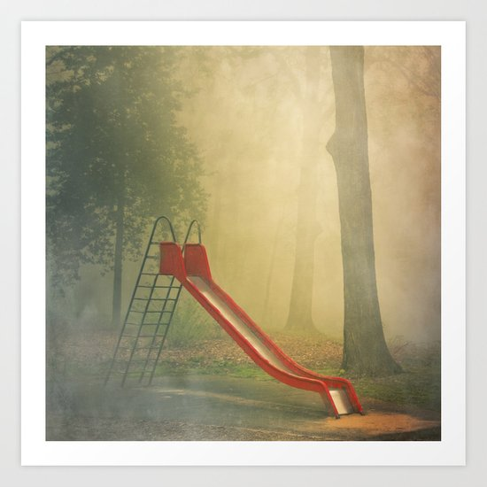 rEd sLide Art Print