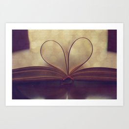 Love of the Book Art Print