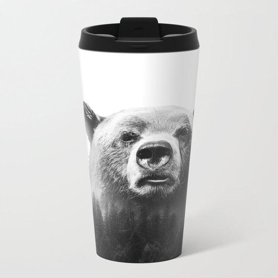 Big Bear #3 Metal Travel Mug