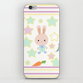 Kids cute cartoon bunny iPhone Skin