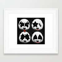 kiss Framed Art Prints featuring kiss by mark ashkenazi