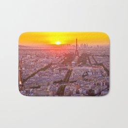 Sunset in Paris City Bath Mat