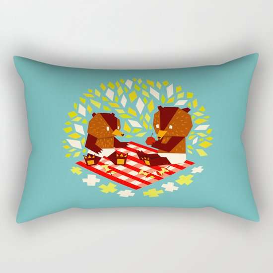 picknick bears Rectangular Pillow