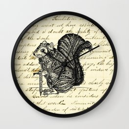 Warrior Squirrel Wall Clock