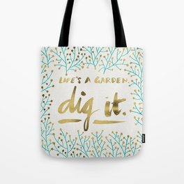 Dig It – Gold & Turquoise Tote Bag
