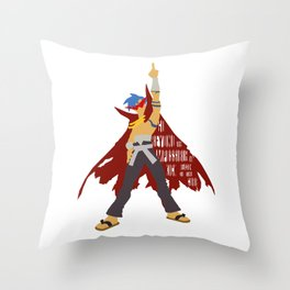 Kick reason to the curb! Throw Pillow