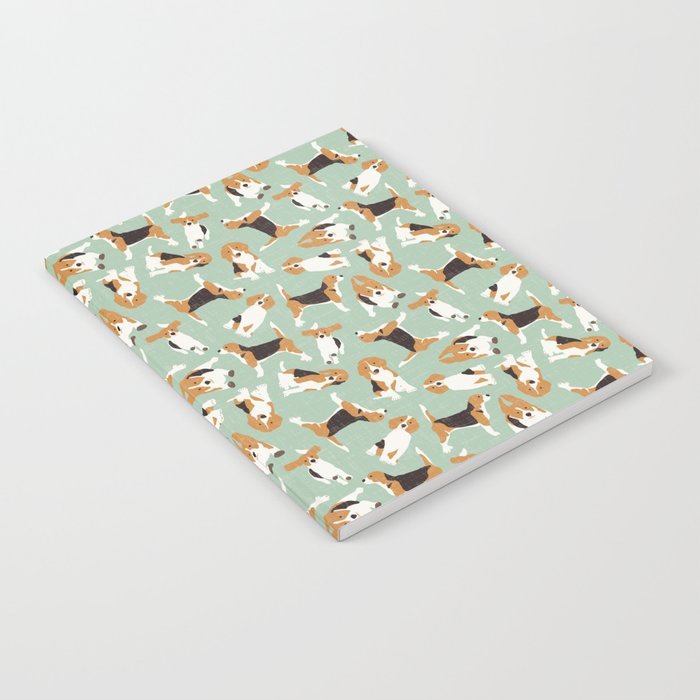 beagle scatter mint Notebook