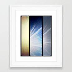 Grid #2 (Rays) Framed Art Print