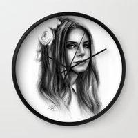 lana Wall Clocks featuring LANA by Laura Catrinella
