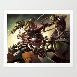 TMNT Go! Art Print