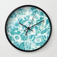 swim Wall Clocks featuring Swim by Melanie Alexandra Photography