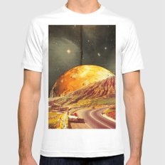 Golden coast White SMALL Mens Fitted Tee