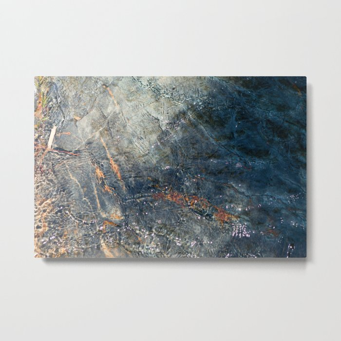 Water, Iron & Stone (Fallen Leaf Lake, California) Metal Print