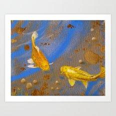 Pair of Golden Koi Art Print