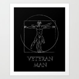 Veteran Man Art Print
