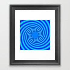 The Swirling Blues Framed Art Print