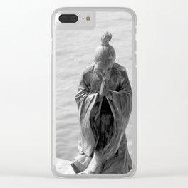 Sculpture_The prayer Clear iPhone Case