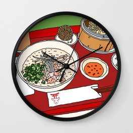 Happy Dim Sum Platter Wall Clock