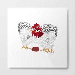 12 Days of Christmas 3 French Hens Metal Print