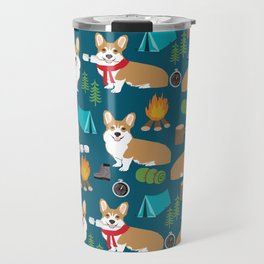 Corgi camping cute welsh corgis campfire outdoors scouts corgis must haves Travel Mug