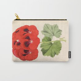 Pelargonium Edward Perkins Vintage Floral Scientific Illustration Carry-All Pouch