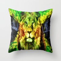 rasta Throw Pillows featuring Rasta  by gypsykissphotography