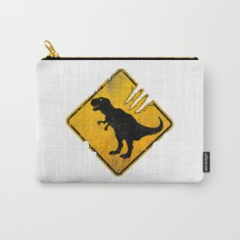 T-Rex Crossing Sign Carry-All Pouch