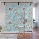 Mermaids and Roses on Aqua by fluffshop