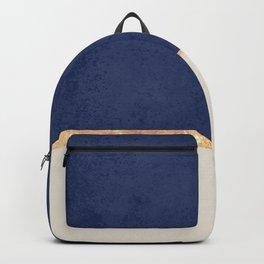 Navy Blue Gold Greige Nude Backpack
