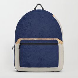 Navy Blue Gold Greige Nude Backpack
