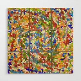 Colorful Tile Mosaic Wood Wall Art