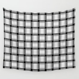 Pale Gray Weave Wall Tapestry