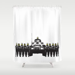 Banksy Have a nice day Shower Curtain