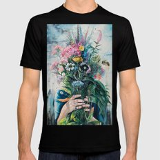 The Last Flowers Black Mens Fitted Tee LARGE